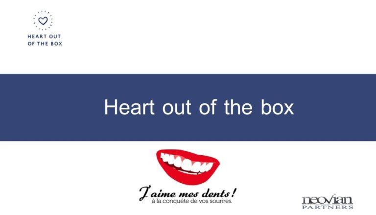 Heart out of the box : J'aime mes dents ! réconcilie hygiène buccale et écoresponsabilité.